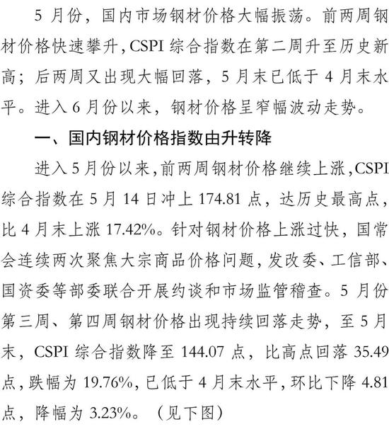 我国钢材价格后期不具备持续上涨的基础